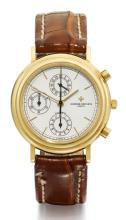 VACHERON CONSTANTIN | A YELLOW GOLD AUTOMATIC CHRONOGRAPH WRISTWATCH WITH REGISTERS <br />REF 47001 MVT 606288 CASE 748268 CIRCA 1991