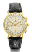 ROLEX | A YELLOW GOLD CHRONOGRAPH WRISTWATCH WITH REGISTER<br />REF 4062 CASE 265 CIRCA 1945