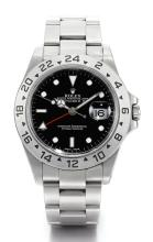 ROLEX | A STAINLESS STEEL AUTOMATIC DUAL TIME ZONE CENTRE SECONDS WRISTWATCH WITH DATE 24-HOUR INDICATION AND BRACELET <br />REF 16570 CASEP755339 EXPLORER II CIRCA 2000