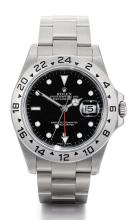 ROLEX | A STAINLESS STEEL AUTOMATIC DUAL TIME ZONE CENTRE SECONDS WRISTWATCH WITH DATE, 24-HOUR INDICATION AND BRACELET <br />REF 16570 CASEP912654 EXPLORER II CIRCA 2000