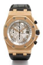 AUDEMARS PIGUET | A LIMITED EDITION PINK GOLD AUTOMATIC CHRONOGRAPH WRISTWATCH WITH REGISTERS AND DATE <br />NO 079/200 ROYAL OAK OFFSHORE PRIDE OF RUSSIA CIRCA 2012