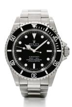 ROLEX | A STAINLESS STEEL AUTOMATIC CENTRE SECONDS DIVER'S WRISTWATCH WITH BRACELET <br />REF 14060M CASEV585351 SUBMARINER CIRCA 2008