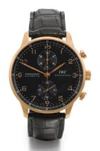 IWC | A LARGE PINK GOLD CHRONOGRAPH WRISTWATCH WITH REGISTER <br />REF 3714 CASE 3080619 PORTUGUESE CIRCA 2008