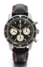 HEUER | A STAINLESS STEEL CHRONOGRAPH WRISTWATCH WITH REGISTERS <br />REF 2446 CASE 109232 AUTAVIA CIRCA 1968