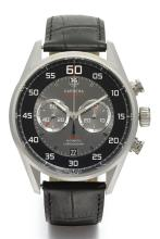 TAG HEUER | A STAINLESS STEEL AUTOMATIC FLYBACK CHRONOGRAPH WRISTWATCH WITH REGISTER AND DATE <br />REF CAR2B10 CASE EAU0569 CARRERA CALIBRE 36 CIRCA 2010