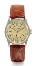 PATEK PHILIPPE | A STAINLESS STEEL WRISTWATCH WITH INDIRECT CENTRE SECONDS<br />REF 96 MVT864022 CASE61627MADE IN1939