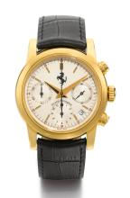 GIRARD-PERREGAUX | A YELLOW GOLD AUTOMATIC CHRONOGRAPH WRISTWATCH WITH REGISTERS AND DATE<br />REF 8020 NO 44 FERRARI CIRCA 1995