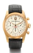 GIRARD-PERREGAUX | A LIMITED EDITION PINK GOLD AUTOMATIC CHRONOGRAPH WRISTWATCH WITH REGISTERS AND DATE<br />REF 4956 NO 53/250 FERRARI 2000 F1 WORLD CHAMPION CIRCA 2000