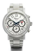 CHOPARD | A STAINLESS STEEL AUTOMATIC CHRONOGRAPH WRISTWATCH WITH REGISTERS, DATE AND BRACELET  <br />REF 8331 CASE 717403 MILLE MIGLIA CIRCA 2000