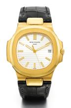 PATEK PHILIPPE | AYELLOW GOLD AUTOMATIC CENTRE SECONDS WRISTWATCH WITH DATE <br />REF 5711 MVT3618541 CASE4426288 NAUTILUSMADE IN 2007