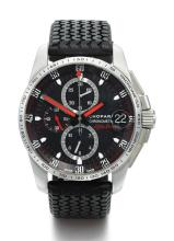 CHOPARD | A STAINLESS STEEL AUTOMATIC CHRONOGRAPH WRISTWATCH WITH REGISTERS AND DATE<br />CASE 1561016 NO 413/500 LIMITED EDITION MILLE MIGLIA FOR ALFA ROMEO CIRCA 2011