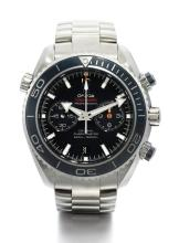 OMEGA | A LARGE STAINLESS STEEL AUTOMATIC CHRONOGRAPH DIVER'S WATCH WITH REGISTER AND GAS ESCAPE VALVE<br />CASE 85953386 PLANET OCEAN 600 CIRCA 2010