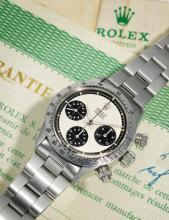 ROLEX | A STAINLESS STEEL CHRONOGRAPH WRISTWATCH WITH REGISTERS ANDBRACELET<br />REF 6265/6262 CASE2788328 DAYTONA 'PAULNEWMAN PANDA' CIRCA 1971