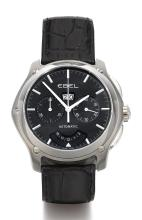 EBEL | A STAINLESS STEEL AUTOMATIC CHRONOGRAPH WRISTWATCH WITH REGISTERS AND DATE<br />REF 9305F71 CASE A210134 CLASSIC EXAGON CIRCA 2005