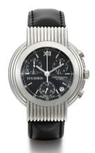 BOUCHERON | A STAINLESS STEEL CHRONOGRAPH WRISTWATCH WITH REGISTERS AND DATE<br />CASE AG 300210 CIRCA 2002
