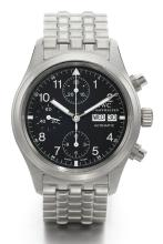 IWC | A STAINLESS STEEL AUTOMATIC CHRONOGRAPH PILOTS WATCH WITH REGISTERS, DAY AND DATE<br />REF. IW37067 DER FLIEGERCHRONOGRAPH CIRCA 2010
