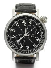 LONGINES | AN OVERSIZED STAINLESS STEEL SINGLE BUTTON CHRONOGRAPH WRISTWATCH WITH REGISTER AND DATE<br />REF L2.779.4 CASE 40147038 NO 1027 TYPE A-7 CIRCA 2014