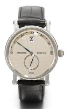 CHRONOSWISS | A STAINLESS STEEL AUTOMATIC WRISTWATCH WITH JUMPING HOURS AND RETROGRADE MINUTES<br />REF CH1423 CASE 10361 DELPHIS CIRCA 2000