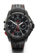 CHOPARD | A BLACKENED STAINLESS STEEL AUTOMATIC SPLIT SECONDS CHRONOGRAPH WRISTWATCH WITH REGISTERS AND DATE<br />CASE 1631605 CLASSIC RACING SUPERFAST SPLIT CIRCA 2015