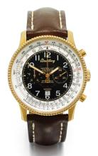 BREITLING | A LIMITED EDITION YELLOW GOLD AUTOMATIC CHRONOGRAPH WRISTWATCH WITH REGISTER AND DATE<br />REF H35330 CASE 701820 NO 092/100 MONTBRILLANT 100 ANS D'AVIATION CIRCA 2003