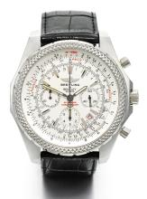 BREITLING | A LARGE STAINLESS STEEL AUTOMATIC CHRONOGRAPH WRISTWATCH WITH REGISTERS AND DATE<br />CASE A25362 SPECIAL EDITION FOR BENTLEY MOTORS CIRCA 2003