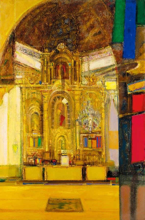 SIR ROBIN PHILIPSON, R.A., P.R.S.A., R.S.W. 1916-1992 CATHEDRAL INTERIOR