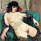 WILLIAM CROSBIE, R.S.A. B.1915 NUDE IN BLACK LACE, William Crosbie, Click for value