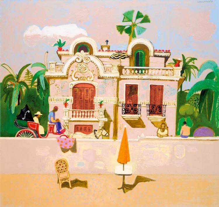 LEON FRANCESCO MORROCCO B.1942 THE OLD VILLA, JUAN-LES-PINS
