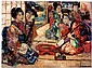 EDWARD ATKINSON HORNEL 1864-1933 THE SAMISEN PLAYERS, E A Hornel, Click for value