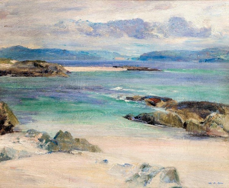 WILLIAM MERVYN GLASS, R.S.A., P.S.S.A. 1885-1965 IONA (RECTO) LOCH NA KEAL FROM IONA (VERSO)