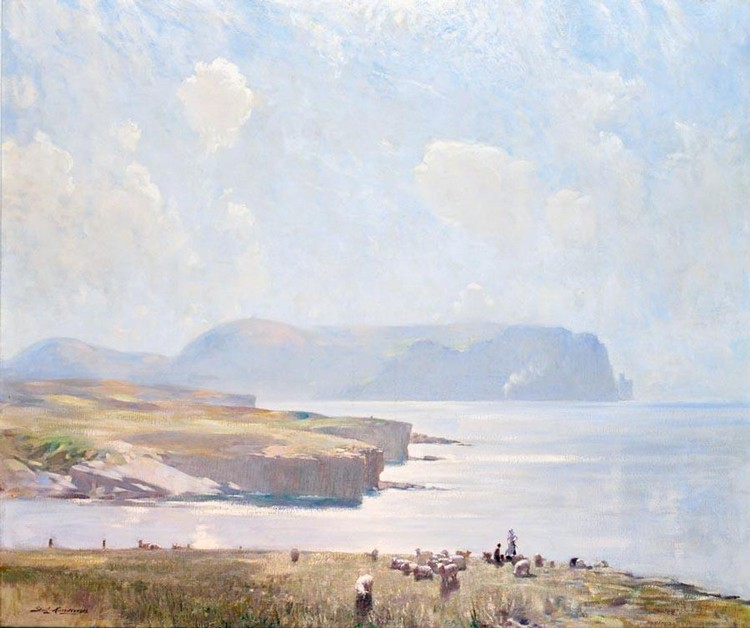 f - STANLEY CURSITER 1887-1976 MISTY WEST COAST, HOY BAY, ORKNEY