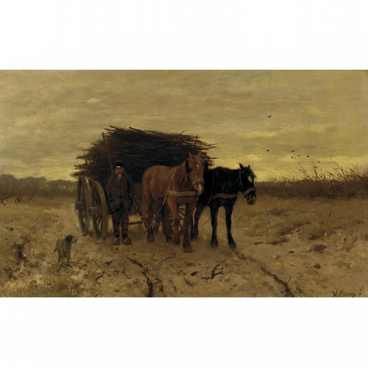 ANTON MAUVE ZAANDAM 1838 - 1888 ARNHEIM