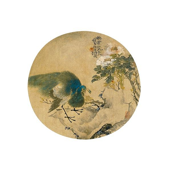 VARIOUS ARTISTS , VARIOUS SUBJECTS ink on silk; ink and colour on silk, circular fan leaves; album of sixteen leaves
