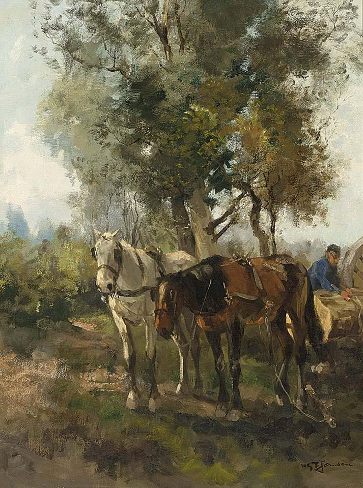 WILLEM GEORGE FREDERIK JANSEN DUTCH, 1871-1949 A HEAVY LOAD
