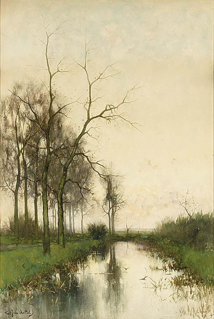 FREDERICUS JACOBUS VAN ROSSUM DU CHATTEL DUTCH, 1856-1917 EARLY MORNING