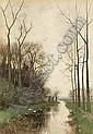 FREDERICUS JACOBUS VAN ROSSUM DU CHATTEL DUTCH, 1856-1917 A DITCH IN A POLDER LANDSCAPE, Frederik Jacobus
