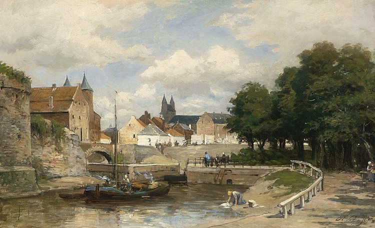 PHILIP LODEWIJK JACOB FREDERIK SADÉE DUTCH, 1837-1904 A VIEW OF MAASTRICHT