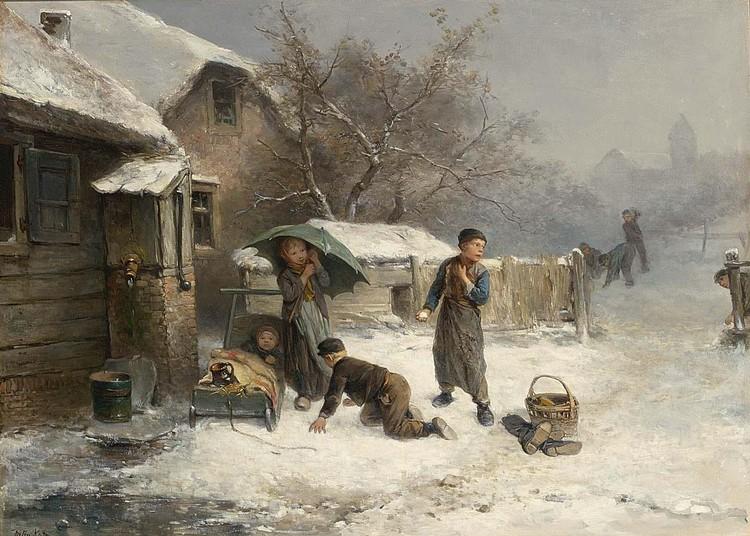 MARI TEN KATE DUTCH, 1831-1910 THE SNOWBALL FIGHT
