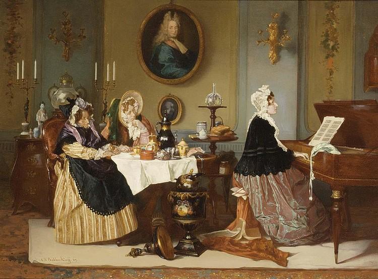 ALEXANDER HUGO BAKKER KORFF DUTCH, 1824-1882 LA ROMANCE