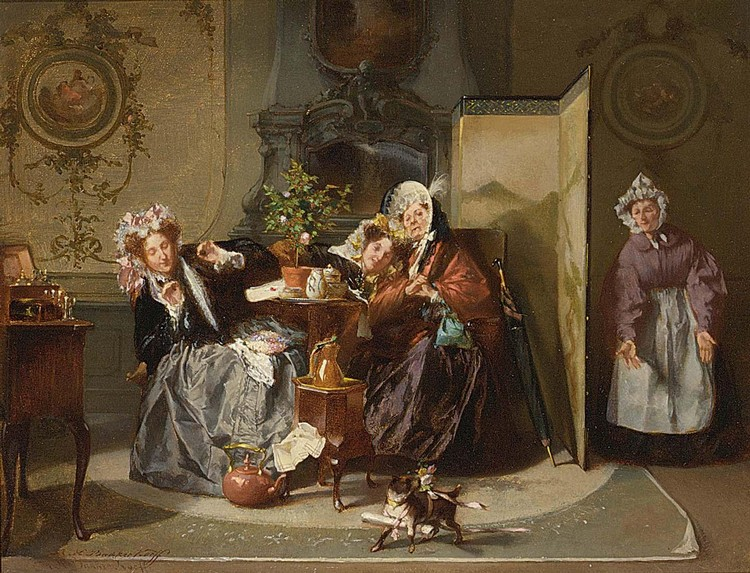 ALEXANDER HUGO BAKKER KORFF DUTCH, 1824-1882