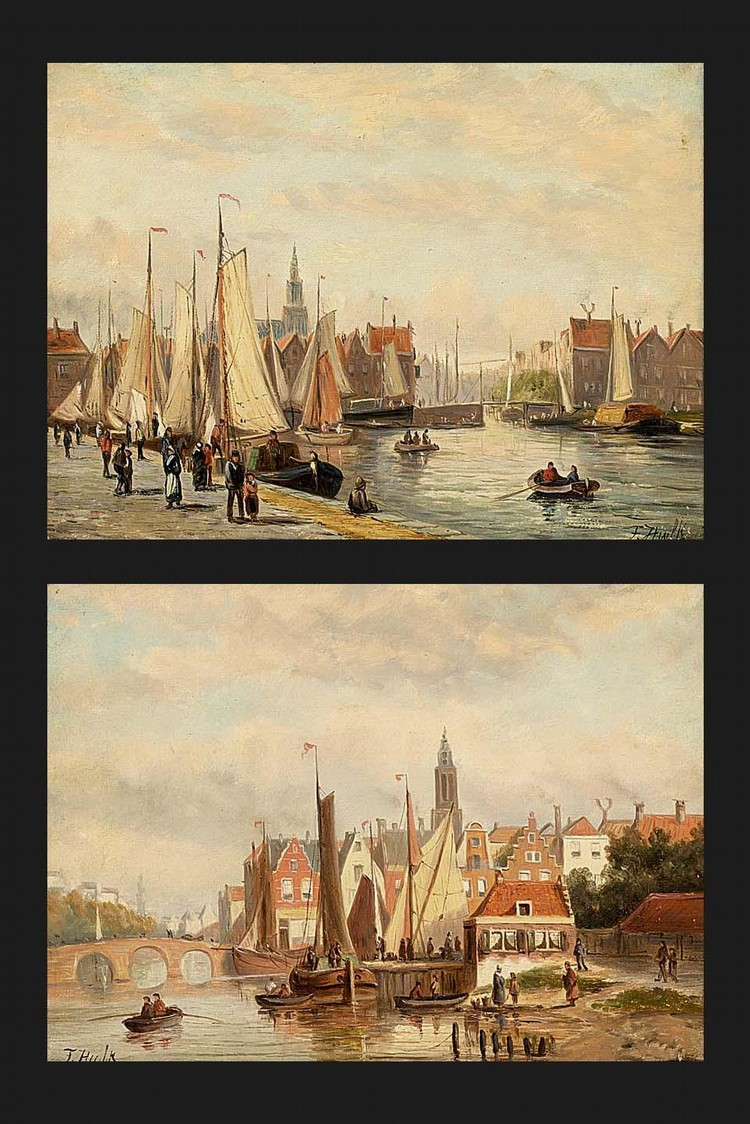 PROPERTY OF A PRIVATE LUXEMBURG COLLECTION JOHANNES FREDERIK HULK DUTCH, 1855-1913 TWO VIEWS OF