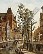 OENE ROMKES DE JONGH DUTCH, 1812-1896 A VIEW OF UTRECHT, Oene Romkes