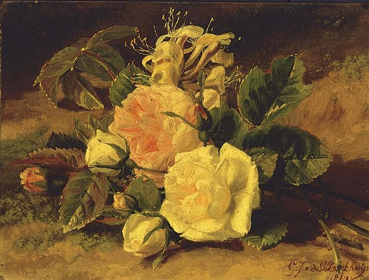 GERALDINA JACOBA VAN DE SANDE BAKHUYZEN DUTCH, 1826-1895 A STILL LIFE WITH ROSES