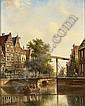 JOHANNES FRANCISCUS SPOHLER DUTCH, 1853-1894 A DRAWBRIDGE IN A SUNNY DUTCH TOWN, Johannes Franciscus Spohler, Click for value