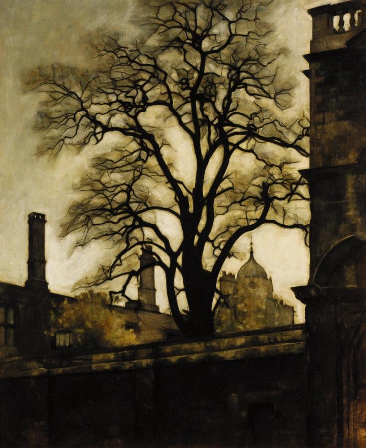 SVEND HAMMERSHOI, 1873-1948 A VIEW OF TOM TOWER, OXFORD
