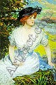James Carroll Beckwith 1852 - 1917 WOMAN IN A WHITE DRESS Signed Carroll Beckwith (lr) Oil on, James Carroll Beckwith, Click for value