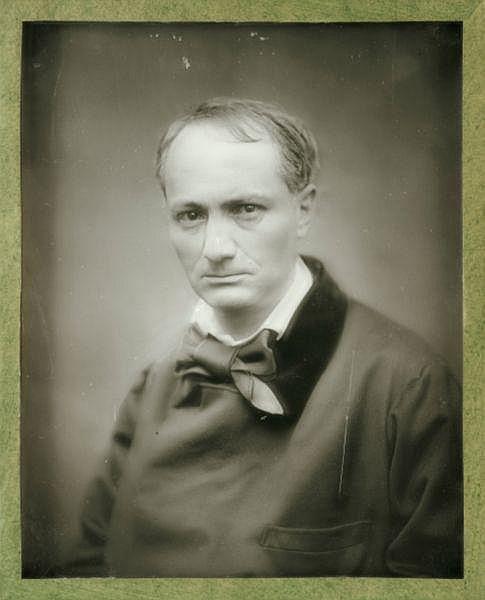 Étienne Carjat (1828-1906) , Charles Baudelaire, matrice pour la publication Galerie Contemporaine , vers 1876