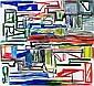 Ken Whisson , Australian B. 1927 BLAZE OF NOON Oil on canvas   , Ken Whisson, Click for value