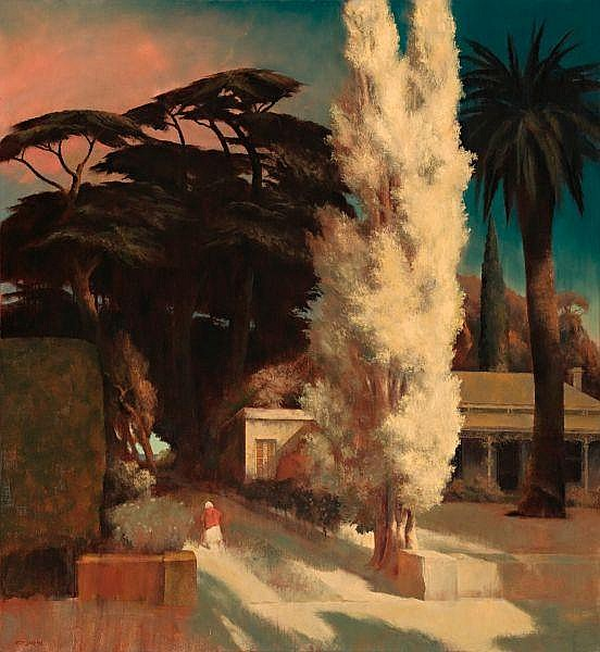 Rick Amor , Australian B. 1948 THE AUNT'S HOUSE Oil on canvas