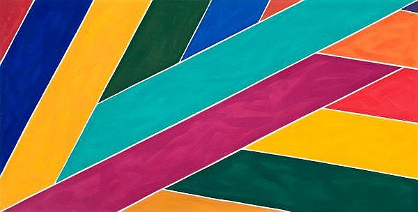 David Aspden , Australian 1935 - 2005 JAZZ FESTIVAL FLAG Acrylic on canvas